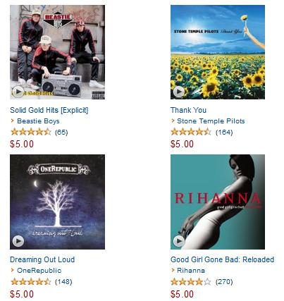 $5 Albums on Amazon